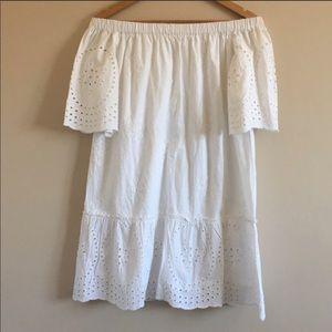 Rebellion Off Shoulder White Cover up/ Dress L
